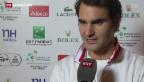 Video «Federer trifft im Davis Cup auf Monfils» abspielen