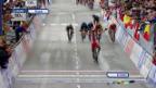 Video «Rad: WM 2014, die Ankunft von Kwiatkowski» abspielen