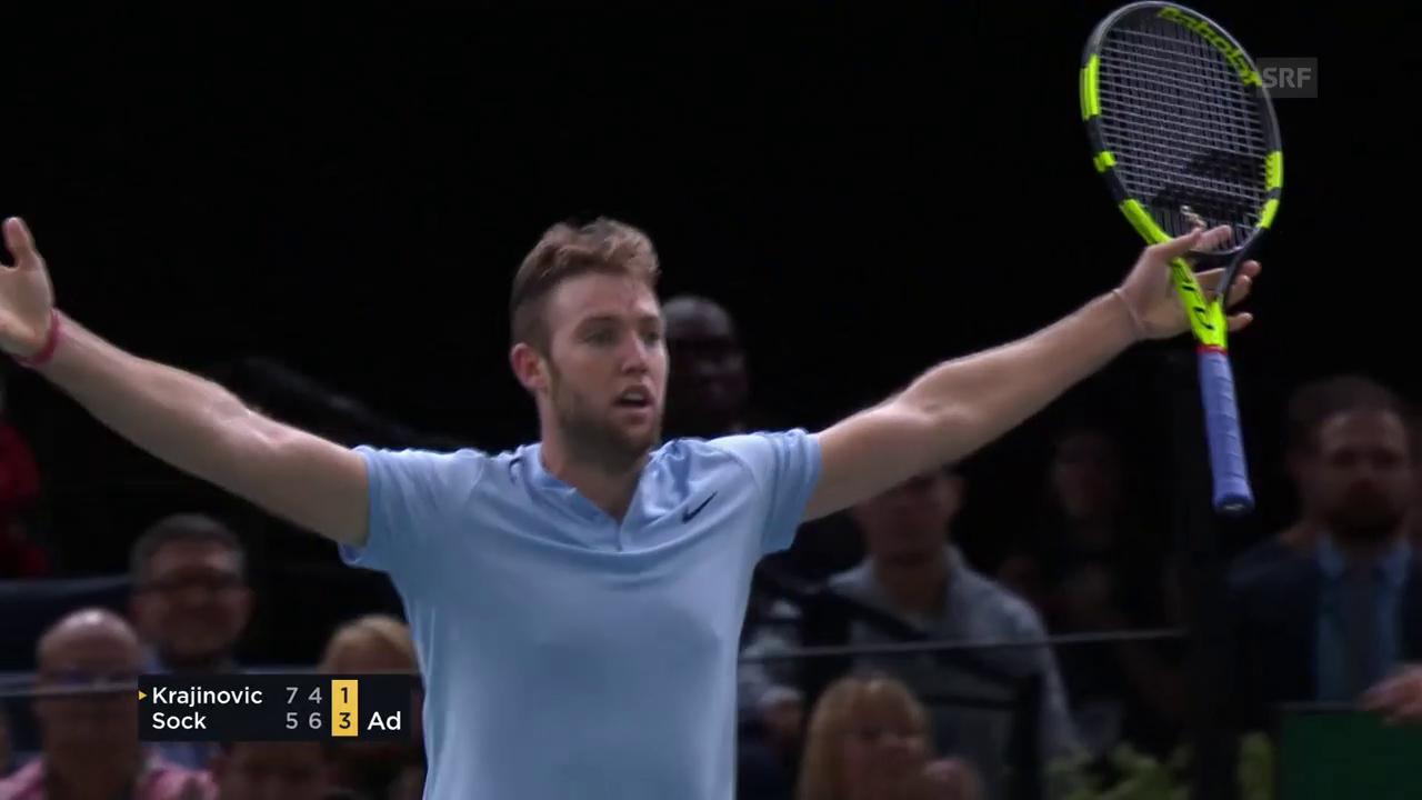 Sock gewinnt in Paris und löst Finals-Ticket