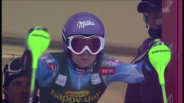 Ski: Der 2. Lauf von Tina Maze beim Slalom in Maribor