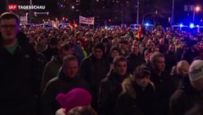 Video «Deutschland debattiert über das Phänomen Pegida» abspielen