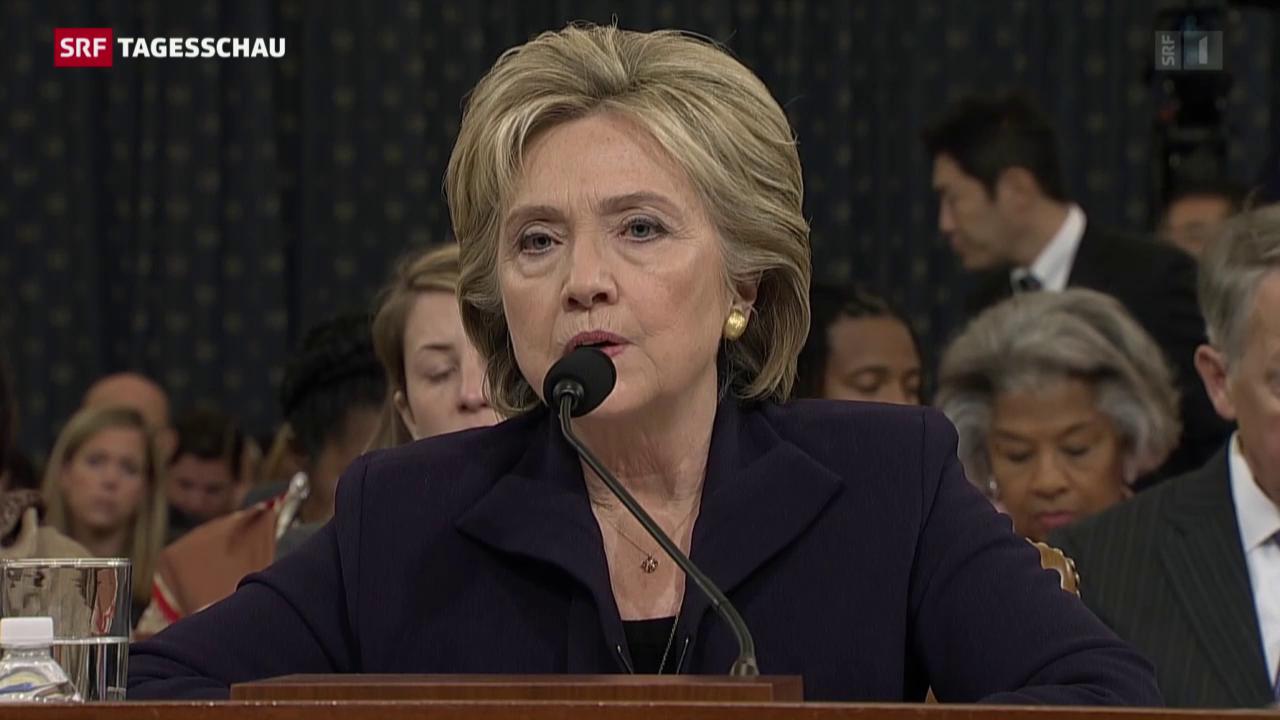Hillary Clinton sagt vor US-Kongress aus