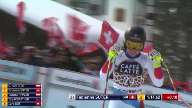Video «Fabienne Suter wird in Lenzerheide Zweite» abspielen