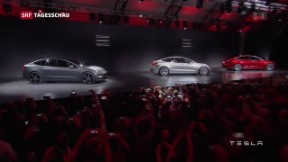 Video «Tesla präsentiert sein neustes Elektroauto-Modell» abspielen