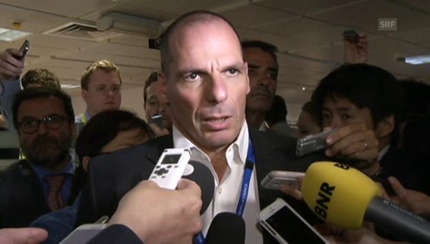 Video «Varoufakis: «Institutionen schauen sich beide Dokumente nochmals an»» abspielen