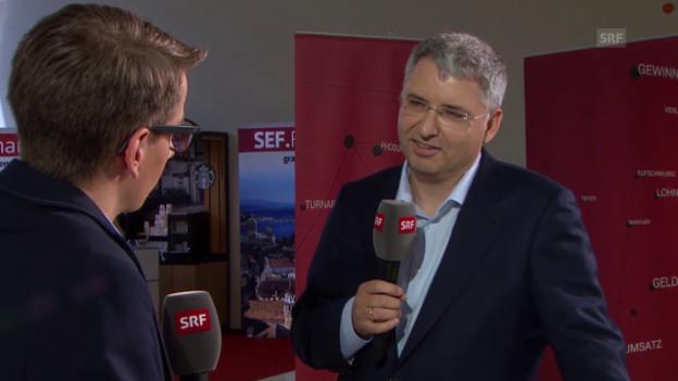 Video «Pascal Scheiber interviewt Roche-Chef Severin Schwan» abspielen
