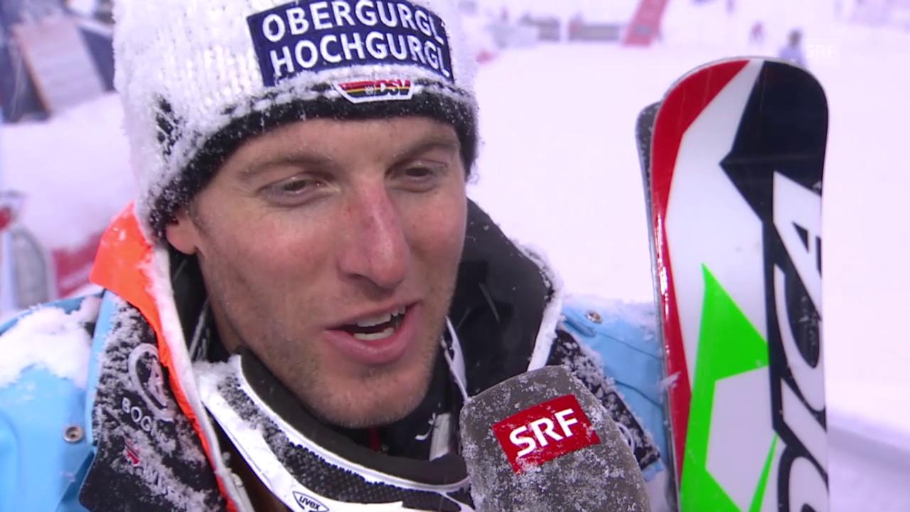 Ski-WM Vail/Beaver Creek, SL Männer, Interview Fritz Dopfer