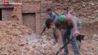 Video «Verzögerter Wiederaufbau in Nepal» abspielen
