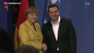 Video «Tsipras-Besuch bei Merkel: Letzte Hoffnung» abspielen