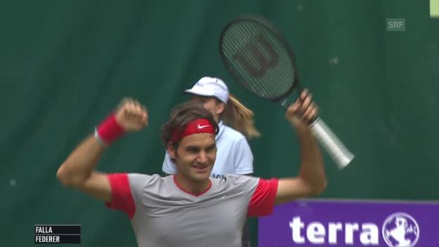 Video «Federer - Falla: Die wichtigsten Ballwechsel» abspielen