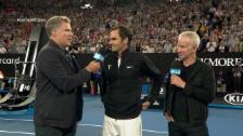 Link öffnet eine Lightbox. Video Federer: «Der Final mit Rafa war episch» (engl.) abspielen
