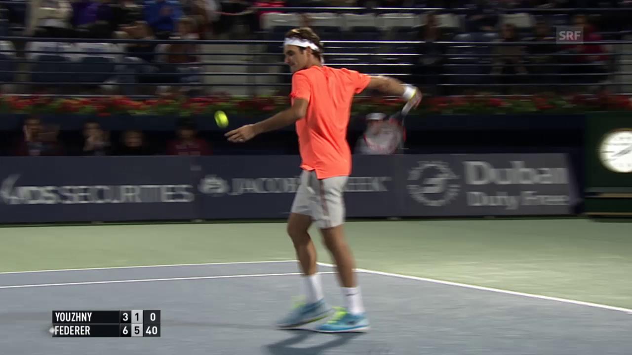 Tennis: Federer-Juschni, Matchbericht