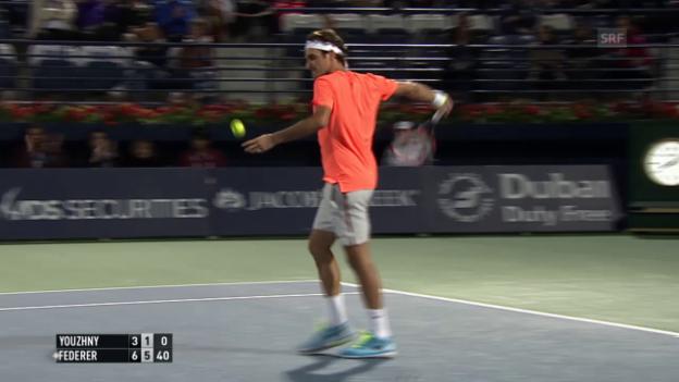 Video «Tennis: Federer-Juschni, Matchbericht» abspielen