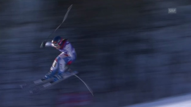 Video «Ski Alpin: Abfahrt Frauen Val d'Isère, Fahrt von Gisin in Val d'Isère («sportlive», 21.12.2013)» abspielen