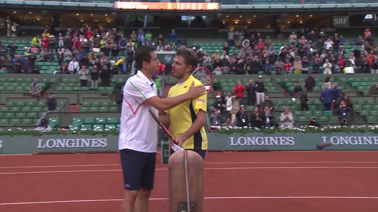 Tennis: French Open, Entscheidende Szenen bei Wawrinka - Garcia-Lopez