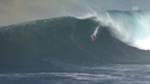 Video «Surfen: Spektakuläre Impressionen von der Pe'ahi Challenge 2015 (Quelle: SNTV)» abspielen