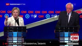 Video «Bissiges Duell zwischen Clinton und Sanders » abspielen