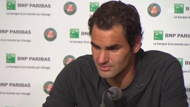 Video «Tennis: French Open, PK Federer» abspielen