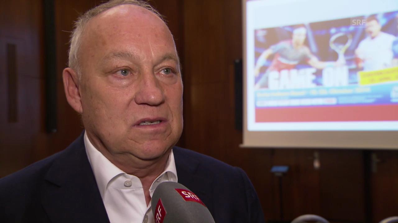 Tennis: Medienkonferenz Swiss Indoors, Interview mit Turnierdirektor Roger Brennwald