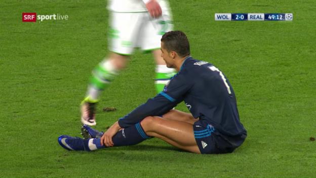 Video «Wolfsburg - Real: Unglücklicher Abend für Ronaldo» abspielen