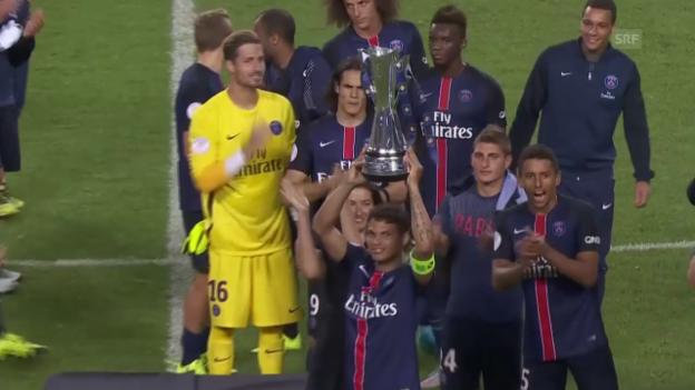 Video «Fussball: PSG gewinnt International Champions Cup nach 2:0-Sieg über ManUnited (Quelle: SNTV)» abspielen