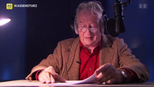 Video «Die Stimme von «Kassensturz»: Peter Kner, seit 40 Jahren dabei» abspielen