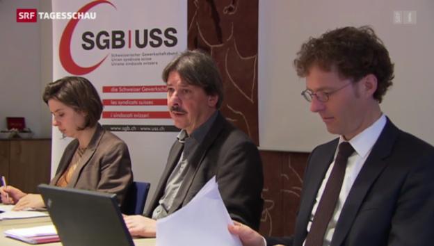 Video «SGB kritisiert ungerechte Einkommensverteilung» abspielen
