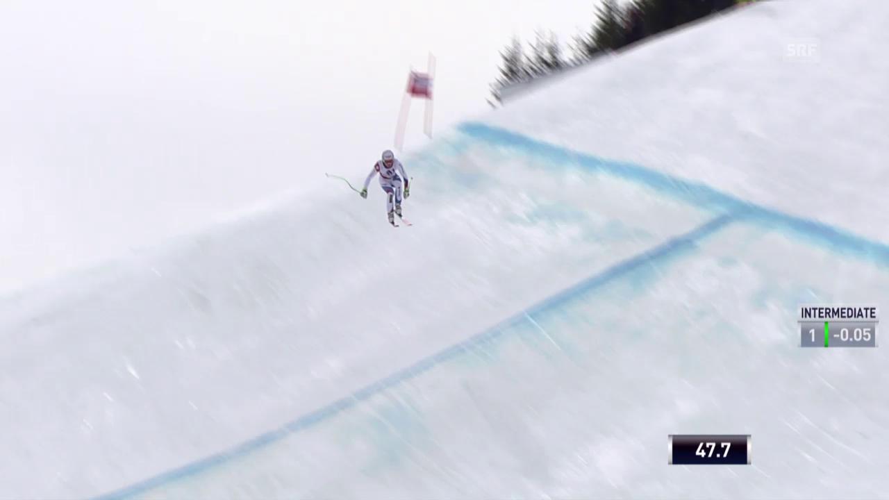 Ski: Abfahrt in Saalbach, Fahrt Carlo Janka