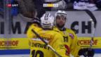 Video «Bern gewinnt in Zug nach 0:2-Rückstand» abspielen