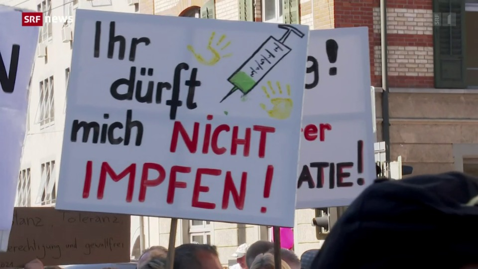 Corona-Demo in Winterthur: Stadtpolizei musste schlichtend eingreifen