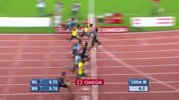 Video «Der 100-m-Sprint der Männer («sportlive»)» abspielen