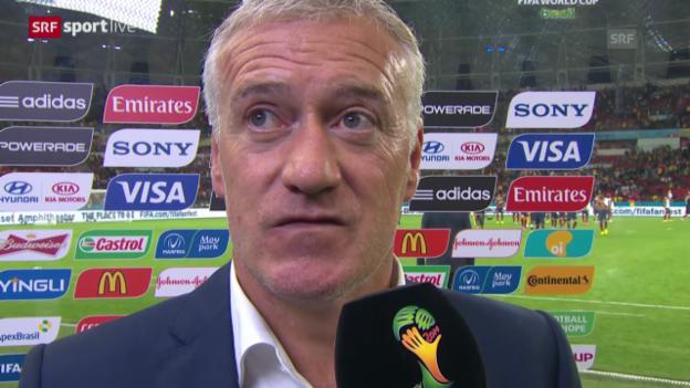 Video «Frankreich - Honduras: Interview mit Didier Deschamps» abspielen