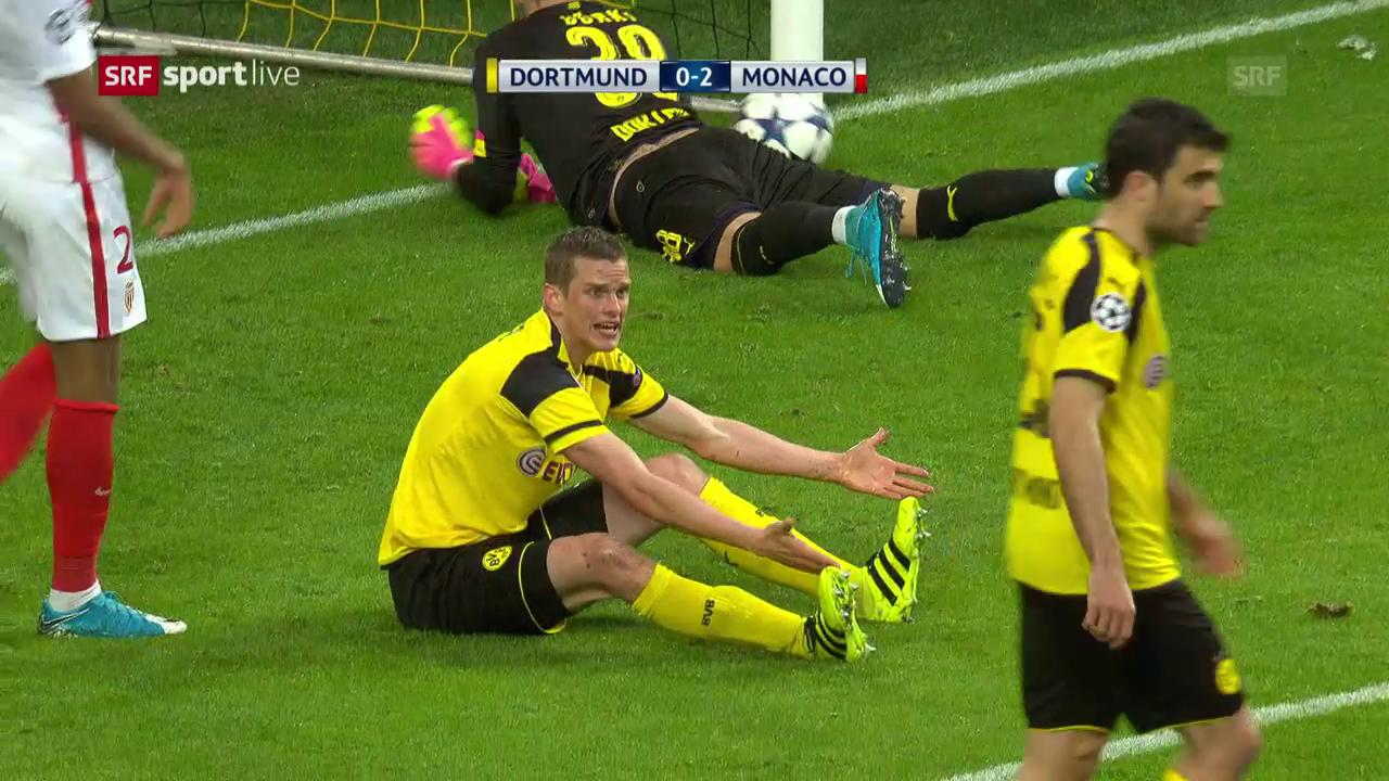 Dortmund-Monaco: Bender von Falcao gestört