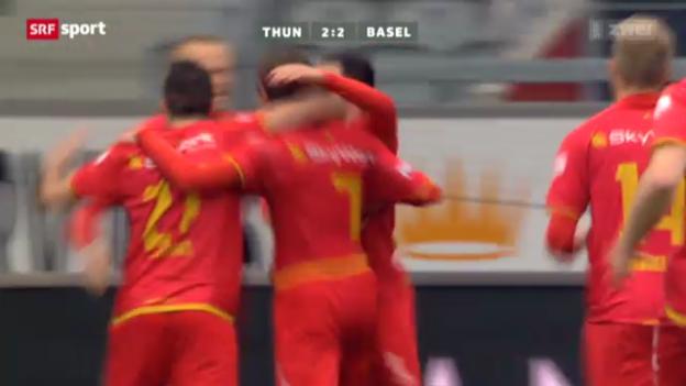 Video «Fussball: Zuffis Tor gegen Basel» abspielen