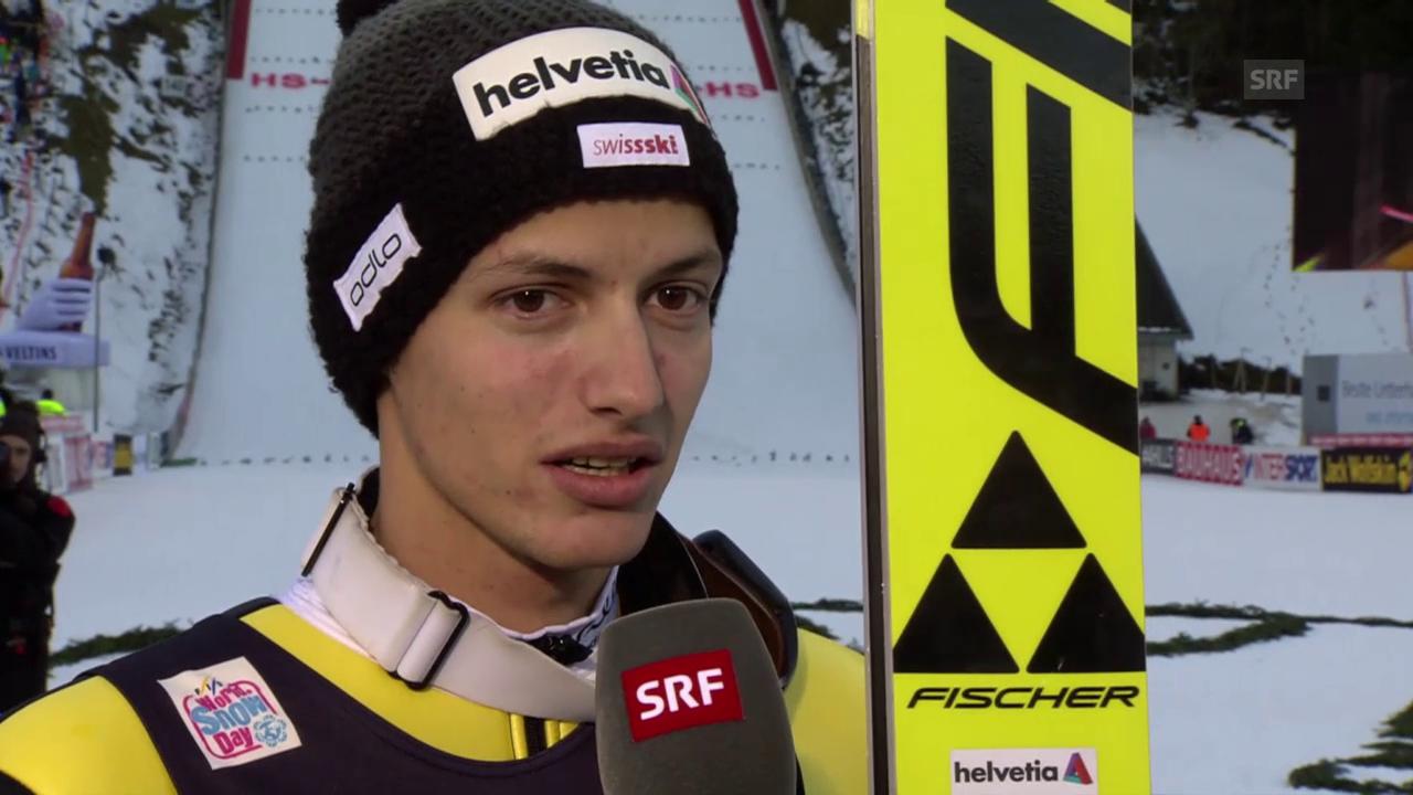 Skispringen: Weltcup Engelberg, Interview mit Gregor Deschwanden