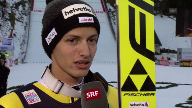 Video «Skispringen: Weltcup Engelberg, Interview mit Gregor Deschwanden» abspielen