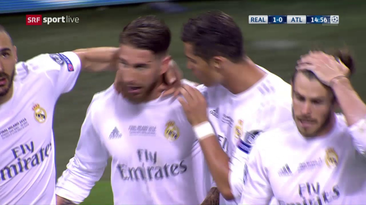 Ramos schiesst Real Madrid in Führung