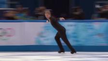 Video «Sotschi: Eiskunstlaufen, Team-Wettbewerb, Kurzprogramm Pluschenko» abspielen