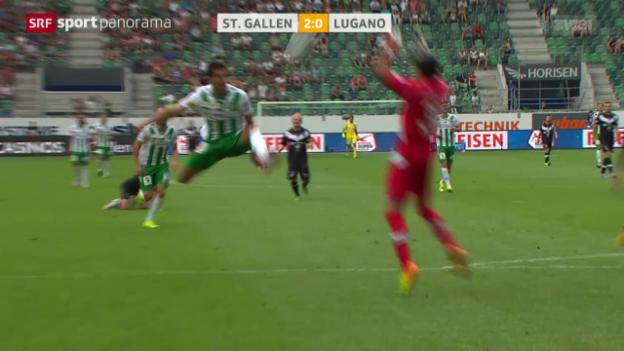 Video «Fussball: Super League, St.Gallen-Lugano» abspielen