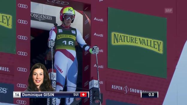Video «Ski Alpin: Riesenslalom Aspen, 1. Lauf Dominique Gisin» abspielen