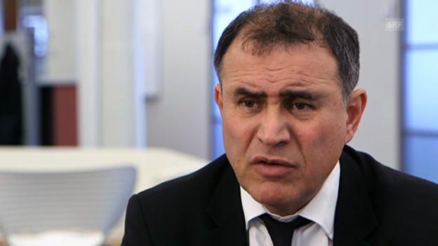 Video «US-Ökonom Nouriel Roubini zum Schweizer Finanzplatz (engl.)» abspielen