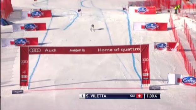 Video «Männer-Super-G in Kvitfjell: Fahrt von Sandro Viletta («sportlive»)» abspielen