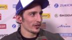 Video «Eishockey: Arosa Challenge, Interview mit Marc Wieser nach dem Spiel gegen die Slowakei» abspielen
