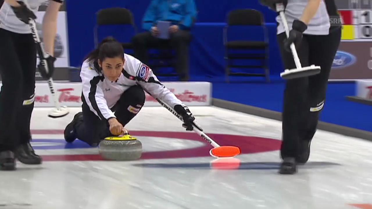 Curling-WM: Entscheidung bei Schweiz-Schweden (Quelle: EVS)