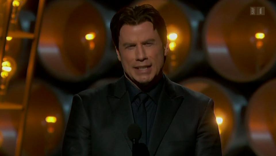 John Travoltas Versprecher auf der Oscar-Bühne