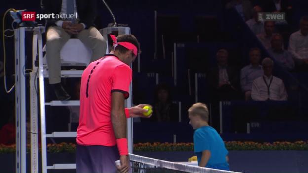 Video «Nishikori und Muller im Basel-Halbfinal» abspielen