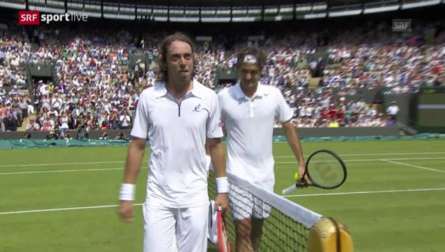 Video «Tennis: Wimbledon, 1. Runde, Federer - Lorenzi» abspielen