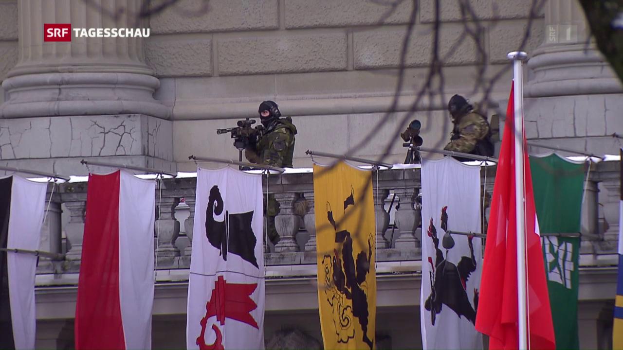 Massives Sicherheitsaufgebot in Bern
