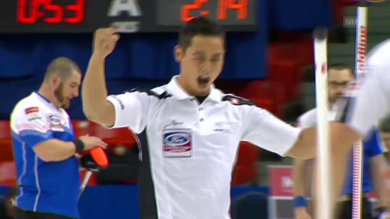 Curling: Schweiz-Tschechien, letzter Stein