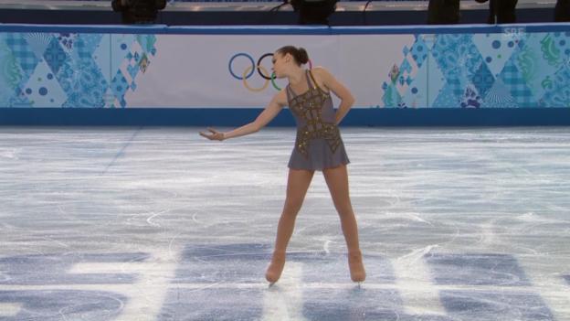 Video «Eiskunstlaufen: Die Kür von Adelina Sotnikowa (sotschi direkt,20.02.2014)» abspielen